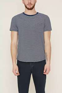 Striped Pocket Tee only £0.85p Free Delivery with Code @ Forever 21