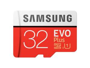 2 x Samsung 32GB Evo Plus Micro SD Card (SDHC) UHS-I U1 + Adapter - 95MB/s  2 For £16 @ MyMemory