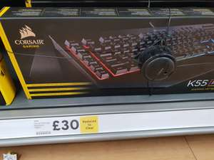 K55 keyboard RGB £30 instore @ Tesco