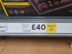 Corsair K63 mechanical keyboard with Cherry MX red switches £40 at Tesco instore