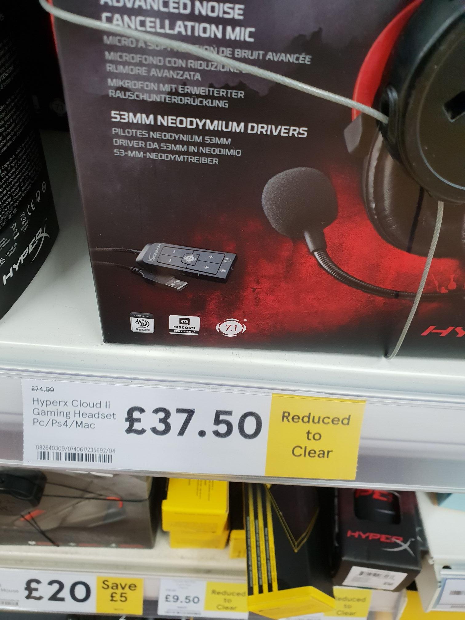 HyperX Cloud ll Headphones, down to £37.50 at Tesco instore