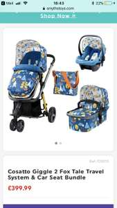 Cosatto Giggle 2 Fox tale travel system and car seat bundle £399.99 at Smyths until 8th July free click and collect