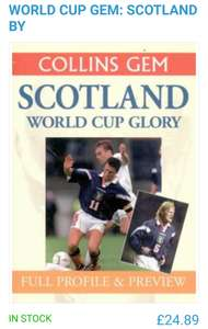 WORLD CUP GEM: SCOTLAND £24.89 @ World Of Books