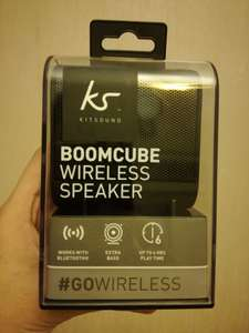 Kitsound BOOMCUBE wireless speaker only £2 @ Asda