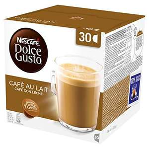 38% saving on Nescafe Dulce Gusto Cafe au Lait pods £4.65 (15.5p each) Amazon add on item (£20 spend required)