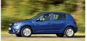 Dacia Sandero 4 year lease £97.84 - £5,576 over the 4 years at Select Car Leasing