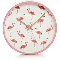 1\2 Price : Flamingo or Cactus Wall clock now £4 @ Asda C+C
