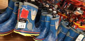 Boys Character Wellies (Marvel, Thor, Hulk, iron man and Captain America!) scanning at £2.50 - instore at Asda Bletchley