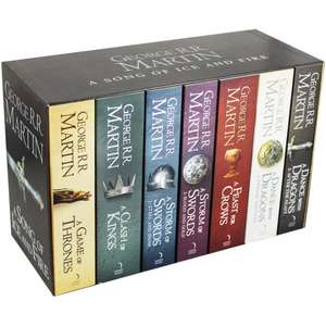 A Song Of Ice And Fire - Game Of Thrones - 7 Book Box Set With Westeros And Free Cities Poster Map Free Delivery @ The Works £26.95 C&C