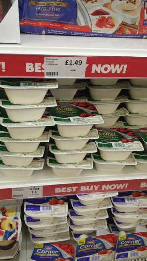 4 lactose free muller corners for £1 at Heron Foods