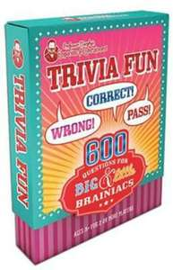 Professor Murphy's Game Cards: Trivia Fun: 600 Questions for Big & Little Brainiacs 99p Home Bargains