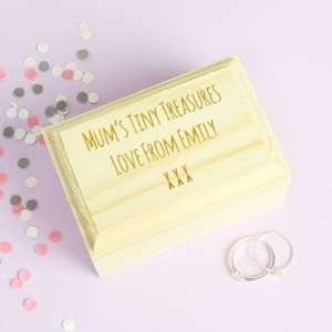 Personalised Mini Wooden Treasure Chest by Lisa angel from not on the highstreet was £10 now £5 *Teacher gift?)