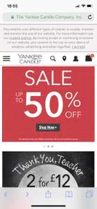 Yankee Candle sale - Up to 50% off