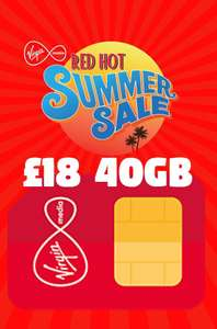 40GB 4G Data (Data Rollover), unlimited minutes and unlimited texts for £18 a month - 12 Months - £216 (Customer Exc) More in OP @ Virgin Media