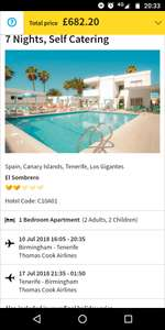 From Birmingham: July 10th 1 Week Family of 4 to Tenerife £170.55pp @ Thomas Cook