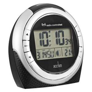 Acctim Zenith Radio Controlled LCD Alarm Clock, Black  £8.40 @ John Lewis + £2 collection or free if spend over £30