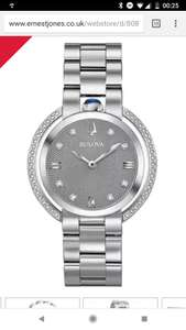 Bulova Ladies' Rubaiyat Black Stainless Steel Bracelet Watch £377.10 (sign up to newsletter 10% off)  at Ernest Jones