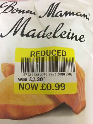 Bonne Maman Madeleine traditional French cake 99p instore at Tesco Leeds Horsforth(Station Road)