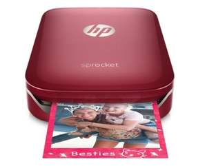 Half Price student deal on HP Sprocket Photo Printer (Red) £59.50 including  combo deal @ Hp  Online store