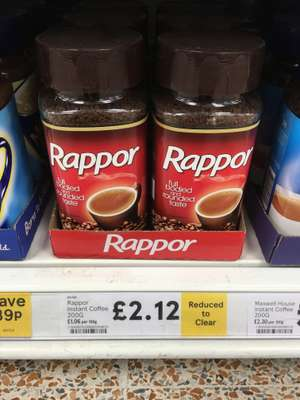 Kenco Rappor 200g reduced to clear in Tesco In store £2.12