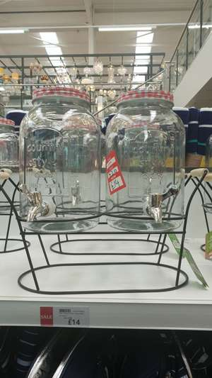 Twin Glass Drinks Dispensers on Stand £14.00 Dunelm - instore / free c&c