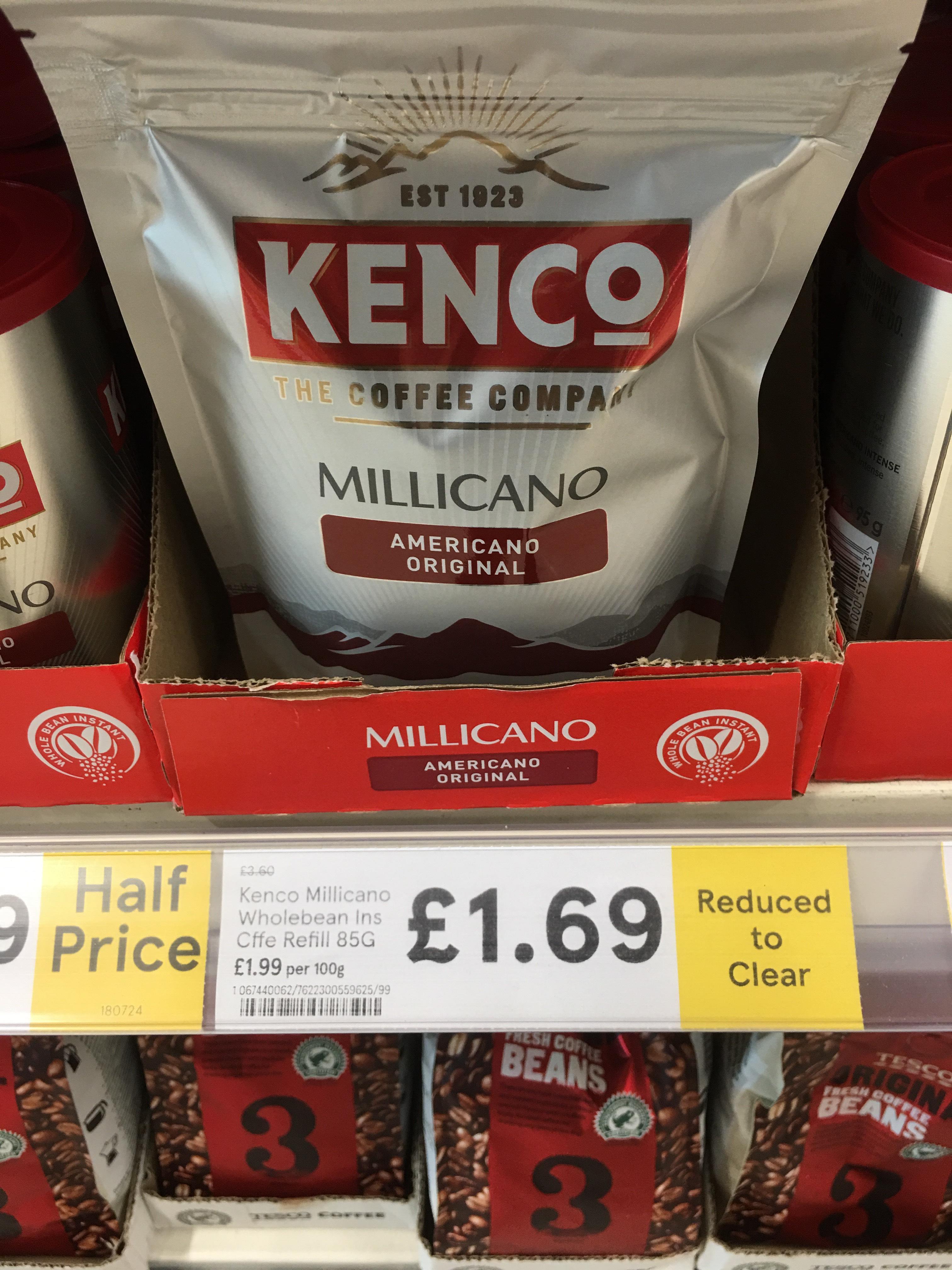 Kenco Millicano refill 85g RTC £1.69 @ Tesco in store