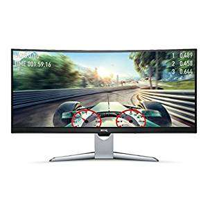 BenQ EX3501R 35-inch Ultra WQHD Curved Monitor, Video Enjoyment, HDR, 21:9, 3440 x 1440, VA, FreeSync, 100 Hz, £615 Amazon
