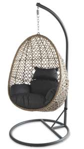 Gardenline Rattan Hanging Chair Back in stock £129.99 plus £3.95 delivery @ Aldi
