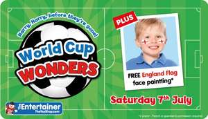 Free World Cup Face Painting @ The Entertainer (The Toy Shop) this Wednesday (11th July from 3pm onwards) and all day Saturday (14th July)