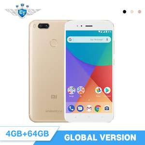 Xiaomi Mi A1 4GB 64GB Mobile Phone Global Version 5.5'' Snapdragon 625 Octa Core Dual Camera 12MP Dual Camera Android One CE FCC £128.90 plus extra $4 new user coupon available @ eternal team /aliexpress