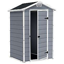 Back in stock,Keter Manor Plastic Shed, 4x3ft £97.50 @ Tesco