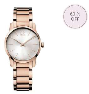 Ladies Calvin Klein city rose gold plated watch [K2G23646]  £86.45 + Free 24h / 48h or Special Delivery @ Chapelle