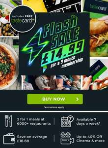 9 months for only £14.99  at tastecard in a flash sale