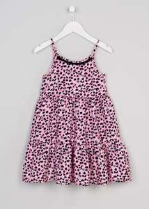 Matalan sale has started girls age 4-13 years leopard print drill dress £4 down from £9