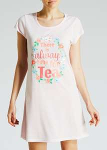 Matalan 2 pack women's tea slogan nighties £6 down from £12