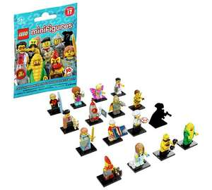 Lego minifigures series 17 - reduced further from £1.99 to £1.49 @ Argos