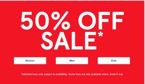 50%Off Sale Men Women and Kids Clothing Sale @ Tescodirect