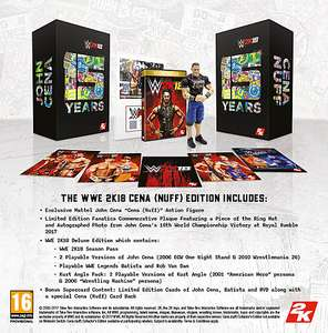 WWE 2K18 CENA (NUFF) COLLECTOR'S EDITION PS4 / Xbox ONE and 2K17 Each £39.99 @ GAME