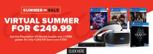 Playstation VR Worlds Bundle + The Invisible Hours + Bravo Team VR + Skyrim VR €249.99 @ Gamestop Ireland