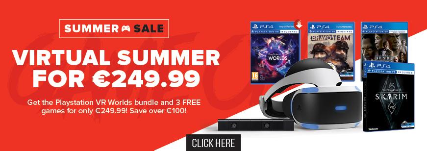 Playstation VR Worlds Bundle + The Invisible Hours + Bravo Team VR + Skyrim VR €249.99 @ Gamestop Ireland