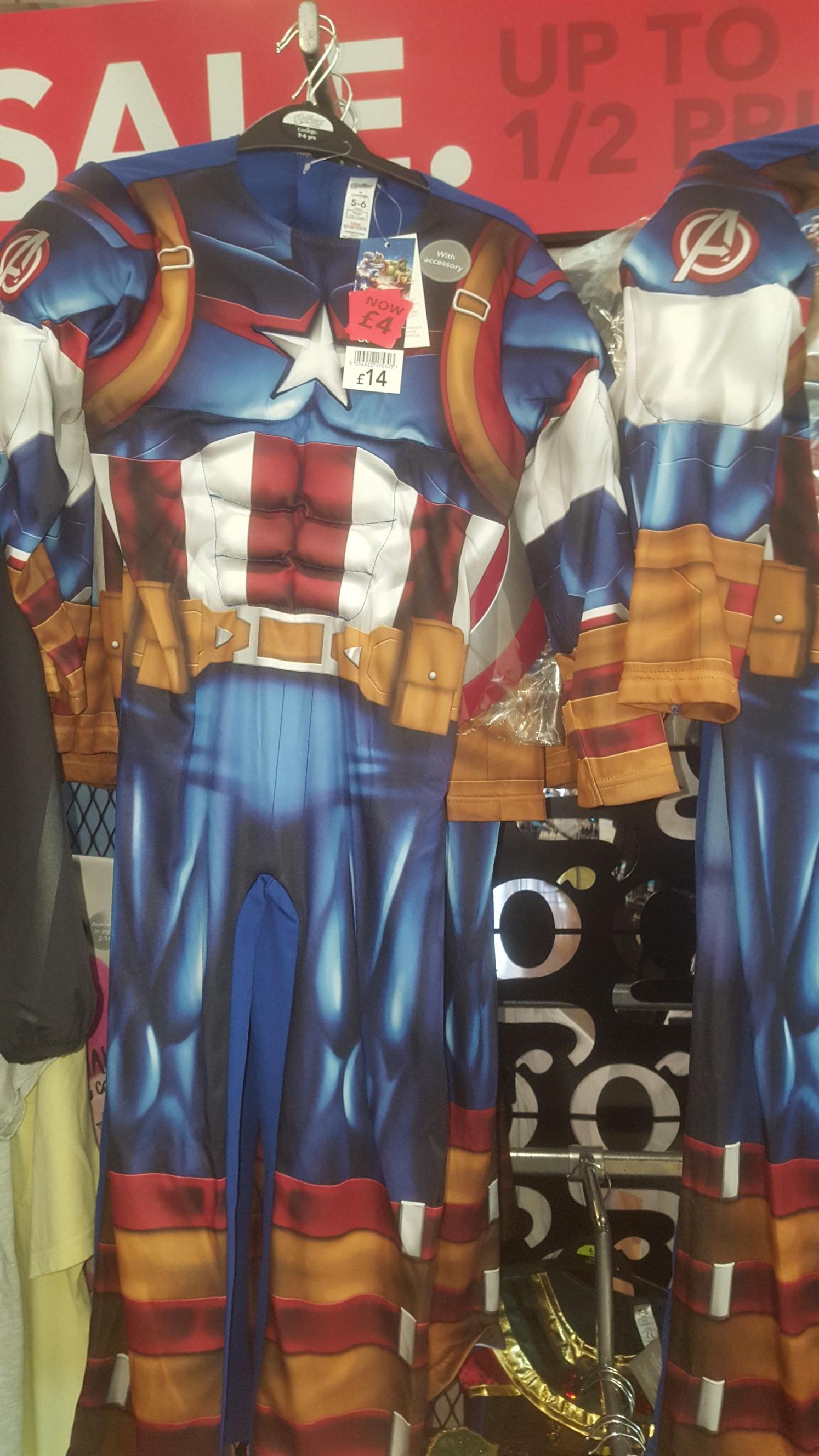 Captain America costume £4 instore @ Asda