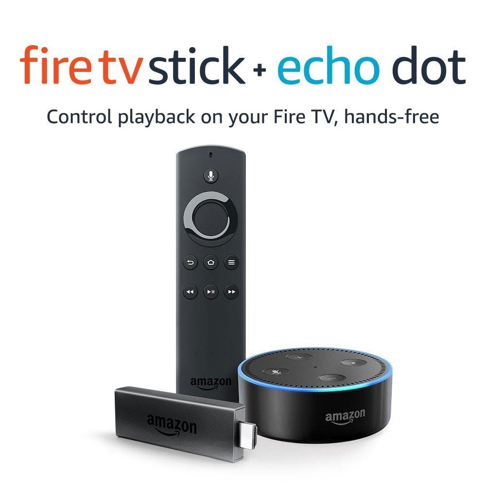 Fire TV Stick with Alexa Voice Remote + Echo Dot Black / White £54.94 (£27.47 each device) Free C&C @ Argos