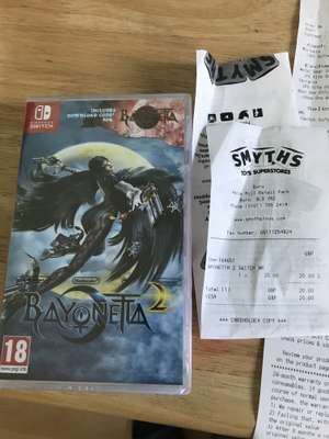Bayonetta 2 new-switch £20.00 smyths instore