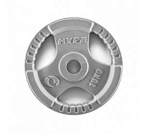 Hype 2 x 15 kg 2'' Inch Cast Iron Olympic Tri-Grip Weight Plates £33 @ Monster Supplements