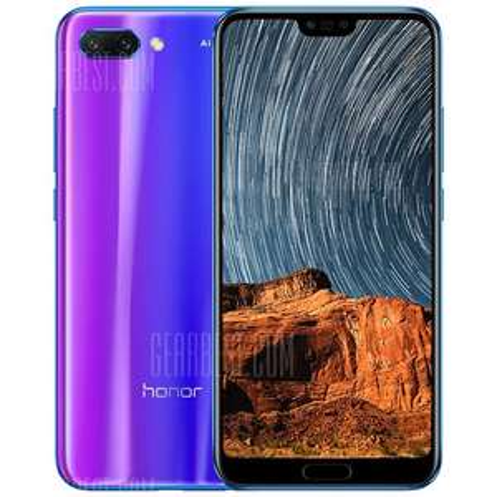 Honor 10 blue below £300! - £299 @ Gearbest
