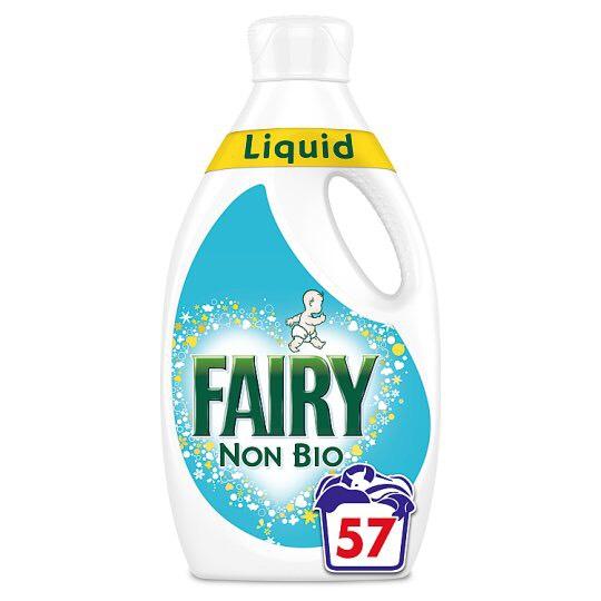 Fairy washing liquid. 57 washes £6 @ Tesco