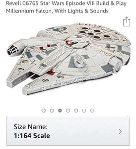 Revell Star Wars Millennium Falcon Build & Play Model Kit £16.99 prime / £21.48 non prime Sold by Shop4World and Fulfilled by Amazon.
