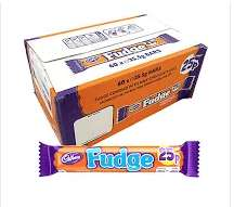 BOX OF 60 CADBURY FUDGE BARS FOR £9!! @ Cadbury Outlet Shop - Gunwharf Quays