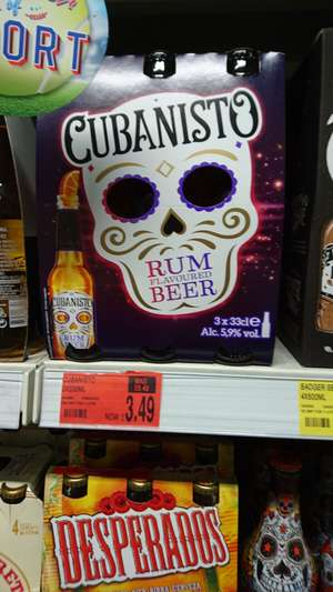 Cubanisto rum flavour beer 3 x 33cl £3.49 @ b&m / Birkenhead