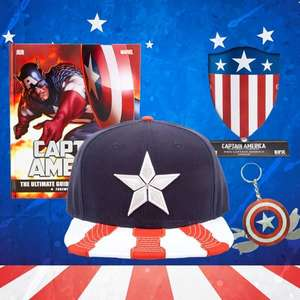 Pre-Order Captain America Bundle - Multi Tool / Ultimate Guide  / Civil War Snapback / Shield Replica £15.98 @ Zavvi